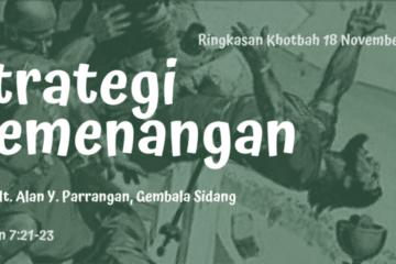 strategi kemenangan kotbah Pdt Allan Y Parrangan